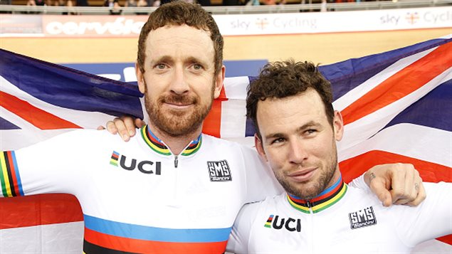 Bradley Wiggins et Mark Cavendish
