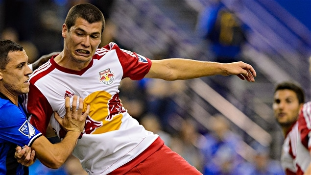 Karl Ouimette avec les Red Bulls de New York