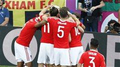 Le Pays de Galles et la Pologneen quarts de finale