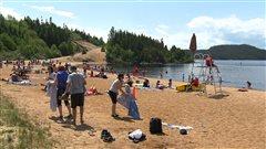 Ouverture du lac des Rapides:le soleil et les baigneurs sont au rendez-vous