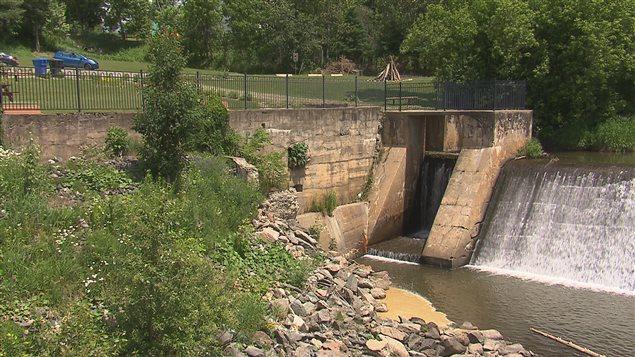 Mise en valeur du barrage de Sawyerville
