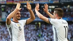 L'Allemagne et la France en quarts de finale