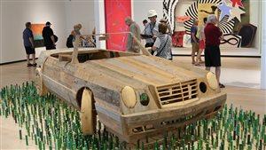 La voiture de BGL, pièce maîtresse de l'exposition «De Ferron à BGL»