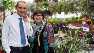 Eliza Reid et son mari, Gudni Johannesson, lors de la campagne électorale en Islande.