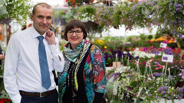 Eliza Reid et son mari Gudni Johannesson pendant la campagne présidentielle en Islande.