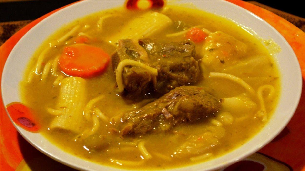 La soupe joumou, une soupe haitienne d'Evelyne St-Amand-Hubert