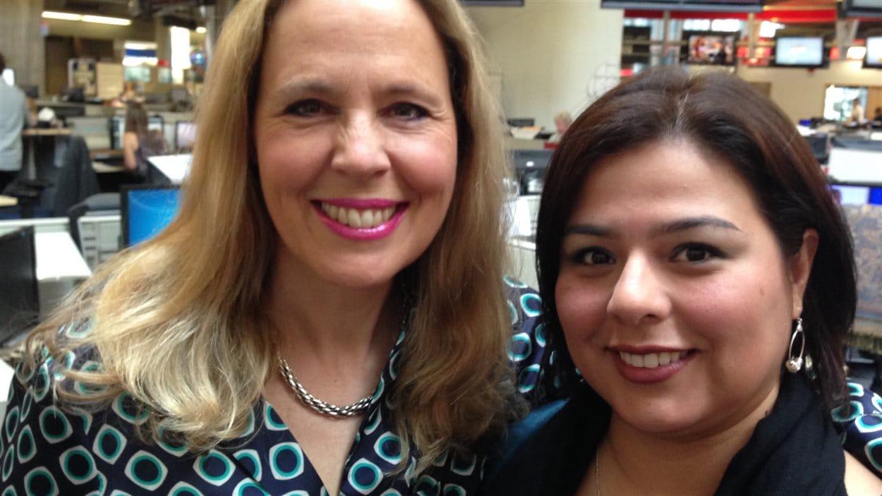 Celyne Gagnon et Beatriz Osorio dans nos studios Vancouverois