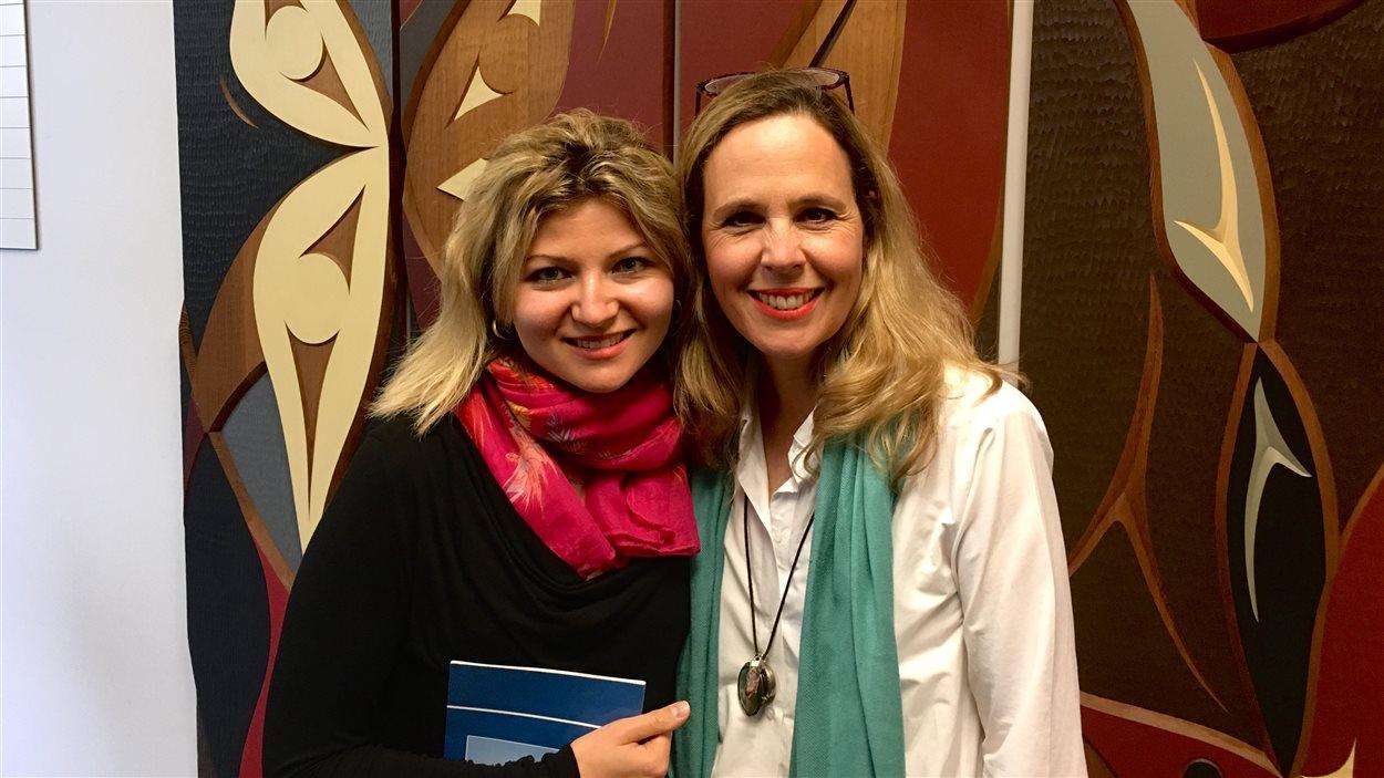 Ivana Tasic-Nikolic en compagnie de Célyne Gagnon