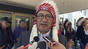 Le chef du conseil tribal de Saskatoon Felix Thomas.