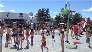 Jeux d'eau, parc Lemoine à Val-d'Or