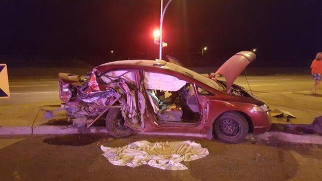 Un accident à Saskatoon a fait cinq blessés.