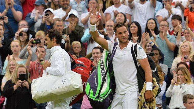 Marcus Willis et Roger Federer