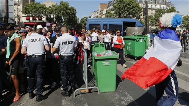 Finale : Des incidents à la fan-zone de Paris