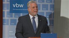 Couillard défend le libre-échange Canada-UE à Munich