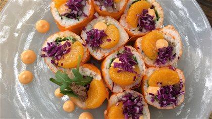 Maki de printemps au canard confit à l'orange