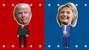 Donald Trump et Hillary Clinton