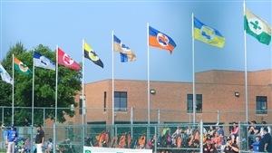Les drapeaux des régions aux Jeux du Québec