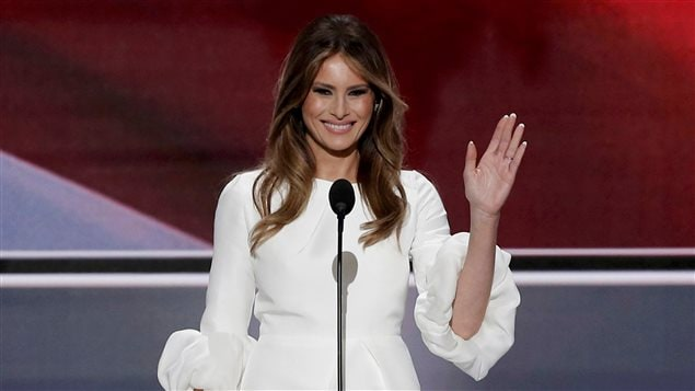 La femme de Donald Trump, Melania Trump, lors de son discours à la convention républicaine, le 19 juillet 2016.