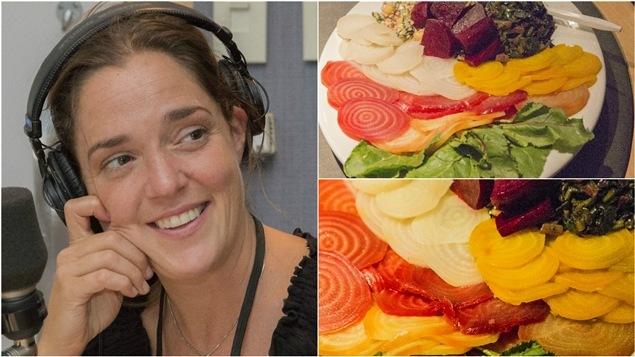 Marie-Michelle Garon a préparé des betteraves de toutes les couleurs.