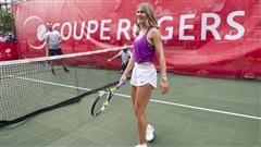 Eugenie Bouchard en préparation pour la Coupe Rogers