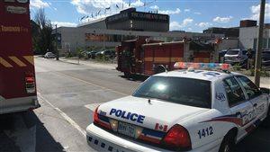 L'édifice du Globe and Mail à Tonron a été évacué.