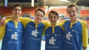 L'équipe de natation masculine de l'Est-du-Québec