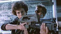 L'actrice Sigourney Weaver incarne l'héroïne Ripley dans le film «Aliens», en 1986, rôle pour lequel elle a été mise en nomination pour un Oscar.