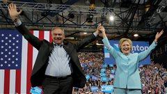Première sortie officielle pour l'équipe Clinton-Kaine