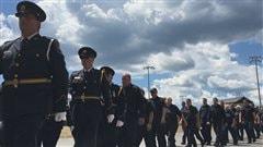 Funérailles du pompier mort en combattant un incendie à Amherstview