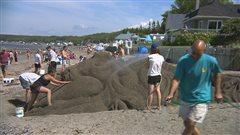 Le sable prend vie à la plage de Sainte-Luce