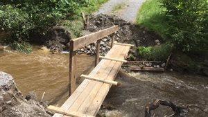 Un pont temporaire à Saint-Fulgence