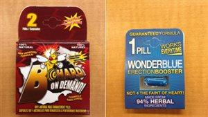 Les comprimés « B-Hard on Demand » et « Wonderblue » peuvent comporter d'importants risques pour la santé.