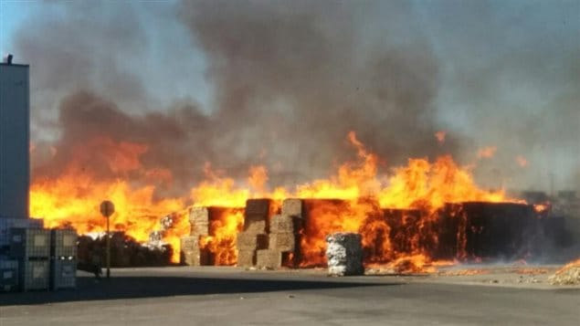 Les flammes atteignaient 15 à 20 m de haut à l'arrivée des pompiers.