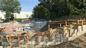 Le futur parc de planche à roulettes Projet 45.