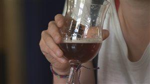 Les bières artisanales ont été présentées à des brasseurs professionnels.