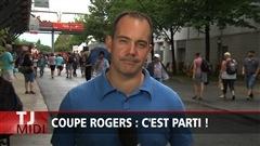 Le début de la Coupe Rogers à Montréal sous la pluie