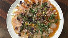 <i>Crudo</i> de poisson blanc du chef Antonio Park