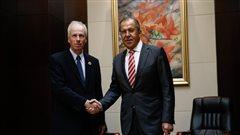 Le ministre des Affaires étrangères Stéphane Dion rencontre son homologue russe