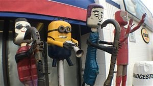 Quatre personnages de Peter Solly