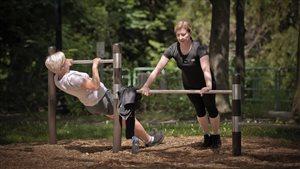 Trekfit : le bonheur de s'entraîner dans un parc
