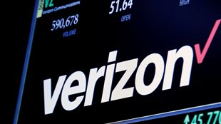 Les informations boursières de Verizon à la Bourse de New York, le 9 juin 2016.
