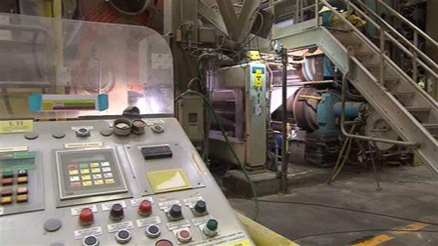 Intérieur d'une usine de la compagnie Kruger
