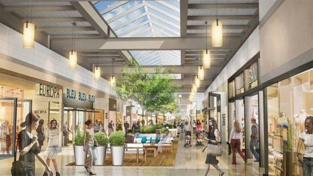 Une vue d'artiste du futur centre commercial qui ouvrira ses portes à l'angle des boulevards Sterling Lyon Parkway et Kenaston en 2017.