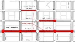 Les travaux se poursuivent sur les rues perpendiculaires à l'avenue Broadway à Saskatoon