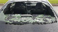 La grêle fait des dommages à Saguenay