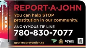 Le programme « Report-A-John » à Grande Prairie aide à lutter contre la prostitution.