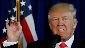 Le candidat républicain Donald Trump, en conférence de presse à Miami, en Floride.
