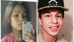 Cory Grey, 19 ans (g), et Dylan Laboucan, 17 ans (d), de la Première Nation de Whitefish Lake, en Alberta, ont été portés disparus le 23 juillet 2016.