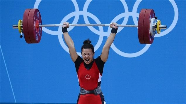 Christine Girard aux Jeux de Londres en 2012