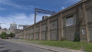 L'endroit où le SLR rejoindra les rails du CN à la gare centrale de Montréal